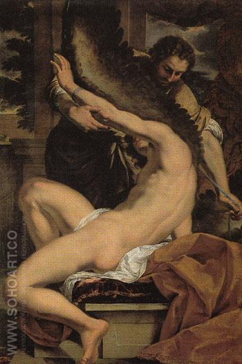 Daedalus and Icarus - Charles Lebrun reproduction oil painting