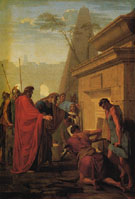 King Darius Visiting the Tomb of His Father Hystaspes - Eustache le Sueur reproduction oil painting