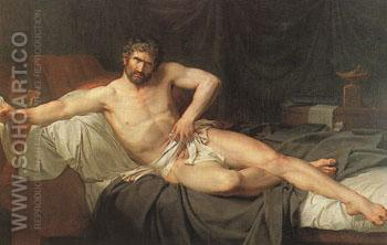 Death of Cato of Utica c1795 - Guillaume Guillon Lethiere reproduction oil painting