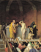 Slave Auction - Jean Leon Gerome reproduction oil painting