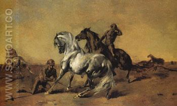 Desert Scene 1868 - Eugene Fromentin reproduction oil painting