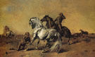 Desert Scene 1868 - Eugene Fromentin reproduction oil painting