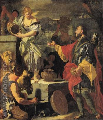 Rebecca at the Well - Francesco Solimena reproduction oil painting