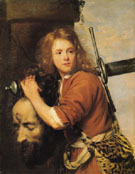 David with the Head of  Goliath 1648 - Jacob van Oost I reproduction oil painting