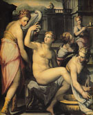 Bathsheba Bathing - Giovanni Battista Naldini reproduction oil painting