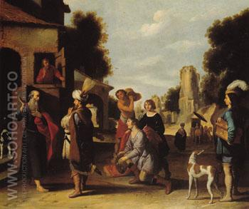 The Prophet Elisha and Naaman - Lambert Jacobsz reproduction oil painting