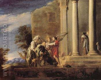 The Healing of Tobit 1620 - Domenico Fetti reproduction oil painting