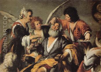 The Healing of Tobit c1635 - Bernardo Strozzi reproduction oil painting