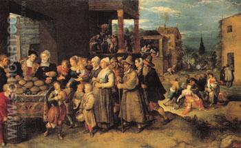 The Seven Acts of Charity - Frans Francken The Younger reproduction oil painting