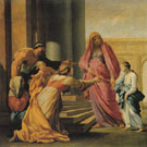 The Presentation of the Virgin in the Temple c1640 - Eustache le Sueur reproduction oil painting