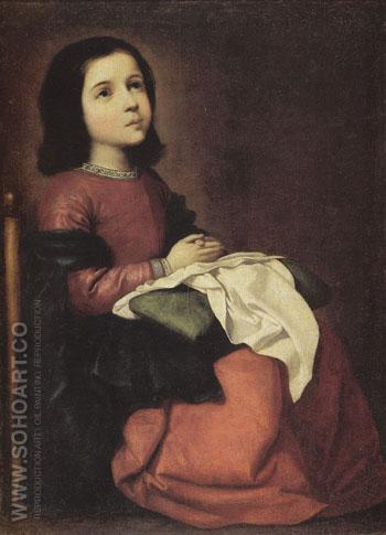 The Girlhood of the Virgin c1660 - Franciso De Zurbaran reproduction oil painting