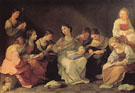 The Girlhood of the Virgin Mary 1610 - Guido Reni reproduction oil painting