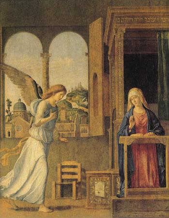 Annunciation 1495 - Cima Da Conegliano reproduction oil painting