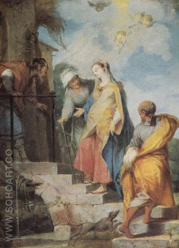 The Visitation c1729 - Nicolas Vleughels reproduction oil painting