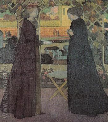 Mary Visits Elizabeth 1894 - Maurice Denis reproduction oil painting