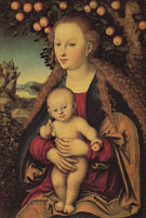 Madonna and Child Under an Apple Tree - Lucas Cranach reproduction oil painting