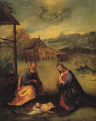 Adoration of the Christ Child c1510 - Girolamo Romanino reproduction oil painting