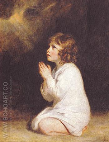 The Infant Samuel 1776 - Sir Joshua Reynolds reproduction oil painting