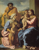 Holy Family with John the Baptist and St Elizabeth 1644 - Nicolas Poussin reproduction oil painting