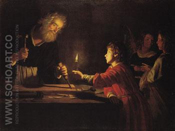 Christ in the Carpenters Shop c1620 - Gerrit van Honthorst reproduction oil painting