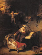 Holy Family 1645 - Rembrandt Van Rijn