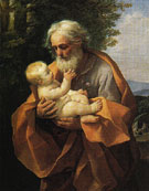 Joseph with the Christ Child in His Arms 1620 - Guido Reni reproduction oil painting