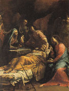 The Death of St Joseph c1712 - Giuseppe Maria Crespi reproduction oil painting