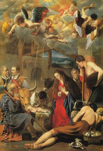 Adoration of the Shepherds - Juan Bautista Del Maino reproduction oil painting