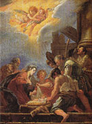 Adoration of Shepherds - Domenico Fetti reproduction oil painting