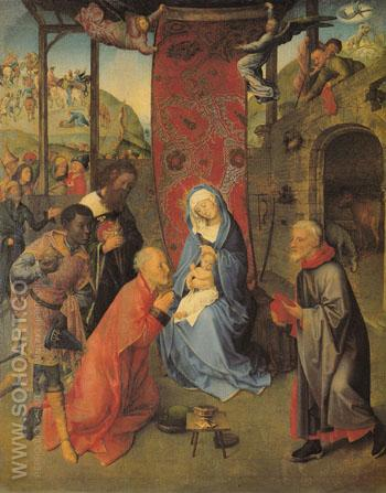 Adoration of the Magi Center Panel - Hugo Van Der Goes reproduction oil painting