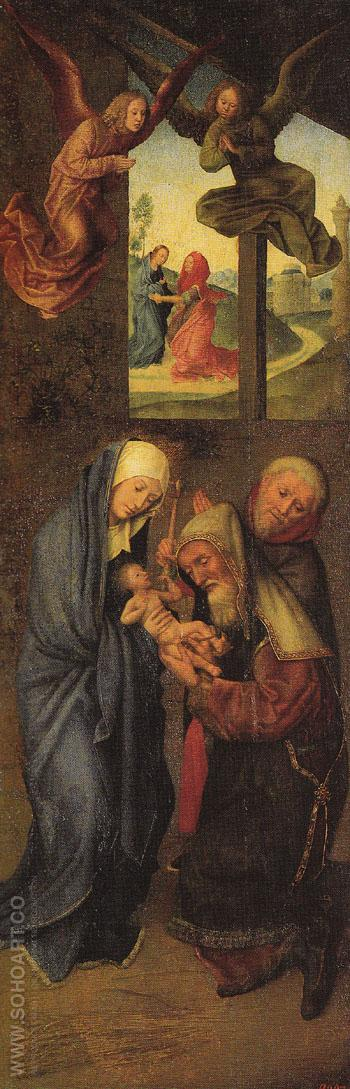Adoration of the Magi Wings I - Hugo Van Der Goes reproduction oil painting
