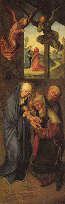 Adoration of the Magi Wings I - Hugo Van Der Goes