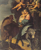 The Flight into Egypt - Bartolommeo Carducci reproduction oil painting