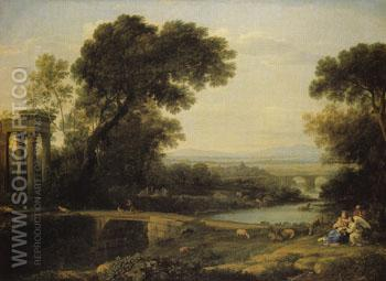 Noon 1651 - Claude Lorrain reproduction oil painting