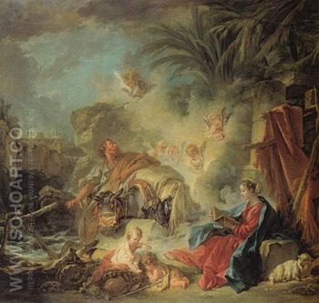 Rest on the Flight into Egypt 1757 - Francois Boucher reproduction oil painting