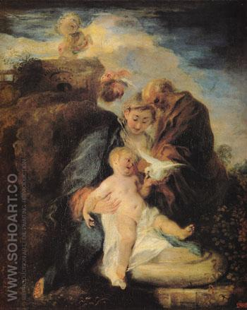 Rest on the Flight into Egypt 1719 - Jean Antoine Watteau reproduction oil painting