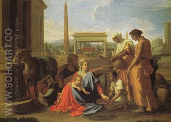 Rest on the Flight into Egypt - Nicolas Poussin reproduction oil painting