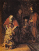 The Return of the Prodigal Son c1668 - Rembrandt Van Rijn reproduction oil painting