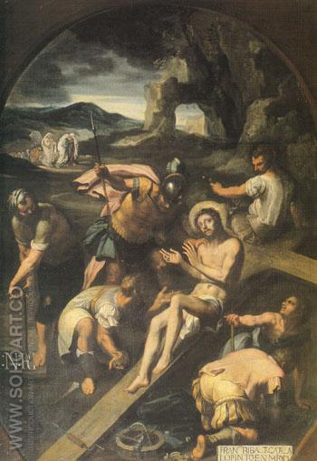 Christ Nailed to the Cross 1582 - Francisco Ribalta reproduction oil painting