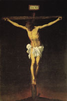 Crucifixion 1650 - Franciso De Zurbaran reproduction oil painting