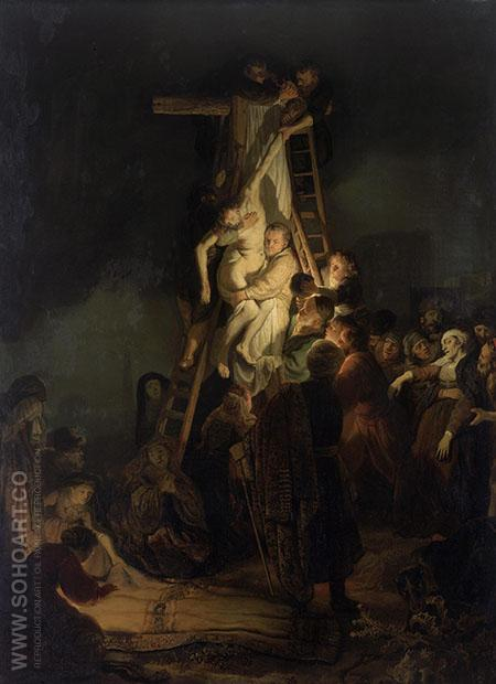 Descent from the Cross 1634 - Rembrandt Van Rijn reproduction oil painting