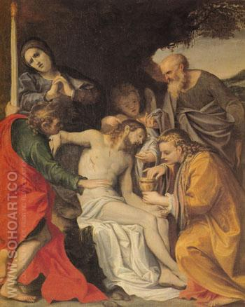 Lamentation of Christ 1580 - Annibale Carracci reproduction oil painting