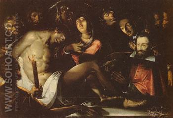 Lamentation of Christ - Jacques Bellange reproduction oil painting