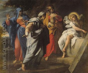 The Holy Women at Christs Sepulchre 1590 - Annibale Carracci reproduction oil painting