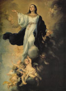 The Assumption of the Virgin 1670 - Bartolome Esteban Murillo reproduction oil painting