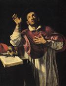 St Carlo Borromeo c1610 - Orazio Borgianni reproduction oil painting