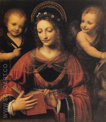 St Catherine 1527 - Luini reproduction oil painting