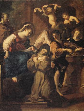 The Vision of St Francesca Romana - Giovanni Francesco Barbieri reproduction oil painting