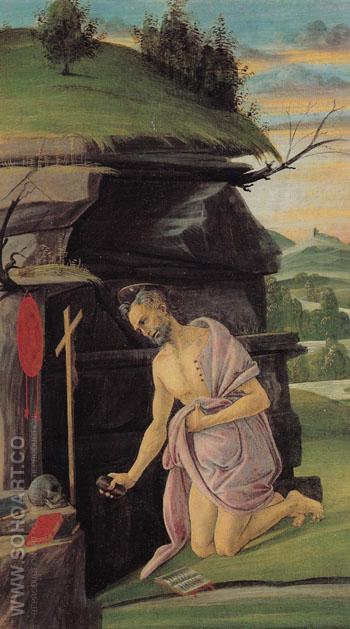 St Jerome 1490 - Sandro Botticelli reproduction oil painting