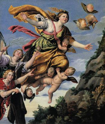 The Assumption of Mary Magdalen into Heaven c1620 - Domenichino reproduction oil painting